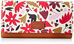 Fossil Dawson Flap Wallet, Pink Floral, One Size