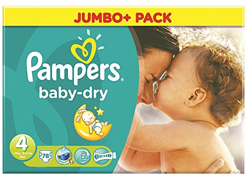 Pampers - Baby Dry Taglio 4 - 78 Pannolini (2X39) 7-18Kg