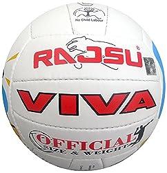 RAJSU Viva Polyether Thane Volleyball (White)