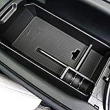 TOPDECO メルセデス ベンツ Cクラス W205 C180 200 260 専用 内装 センター コンソール ボックス トレイ (ゴムマット付き) 整理 収納 小物入れ カードケース コインケース インナーパーツ カスタム ぴったりフィット Mercedes-Benz 社外品