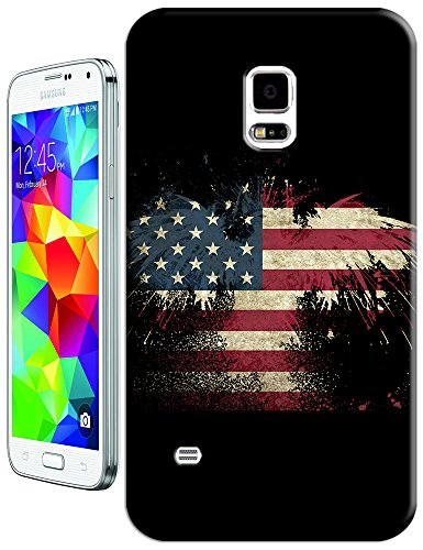 Sangu The American Flag Eagle Black Hard Tpu Samsung Galaxy S5 Case