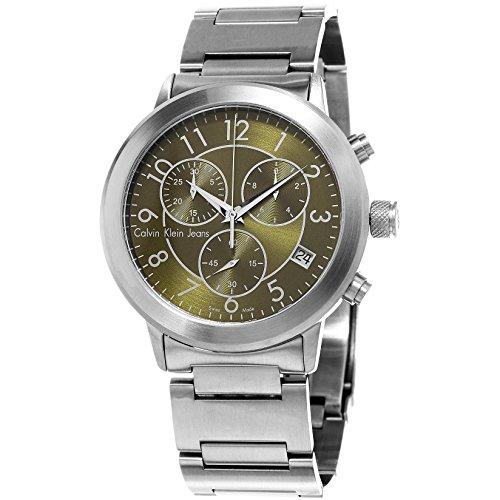 Calvin Klein Jeans Continual K8717150 42mm Silver Steel Bracelet & Case Mineral Men's Watch