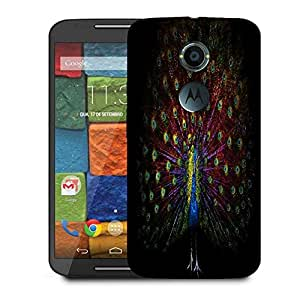 Snoogg Peacock Designer Protective Phone Back Case Cover For Moto X 2nd Generation