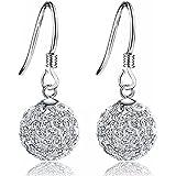 925 Sterling Silver Earrings - Cubic Zirconia 8 Carat Total Hook Earrings