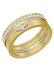 Shish Jewels CZ Diamond Stud Diamond Sterling Silver Ring Yellow Rhodium Plated For Both Engagement And Wedding