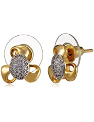 SIA Art Jewellery Stud Earrings For Women (Golden) (AZ3123)