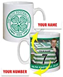 Football Gift Celtic FC Manager Personalised Mug Football Gifts YOUR Surname and Number
