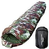 洗濯のできる寝袋 Southern Cross 寝袋 シュラフ マミー型 耐寒温度 -18℃ コンパクト収納 (迷彩)