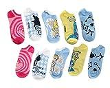 Disney Alice In Wonderland No-Show Socks 5 Pair