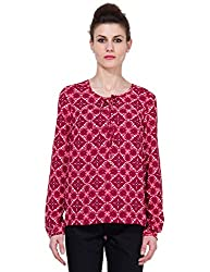 Folklore Women's Tunic Top (FOTP000172_Maroon_Small)