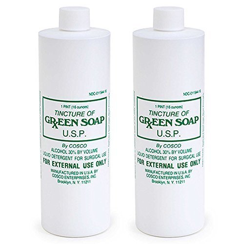 Cosco Tincture of Green Soap U.S.P. Medical Tattoo Cleanser - Two 16 Ounce Bottles (Tattoo Parts compare prices)