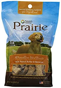 Nature's Variety Prairie Oven Baked Biscuits with Peanut Butter and Bananas, 1.12 lb