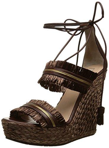 Pura LopezAh331R - Sandali Donna , Marrone (Marron (Trensado Chocolate Napa Metal Oro)), 38