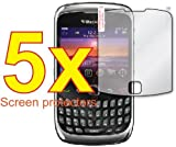 5x BlackBerry Curve 3G 9300 9330 Premium Clear LCD Screen Protector Cover Guard Shield Film Kit, no cutting is required! Exact fit and satisfaction guaranteed!