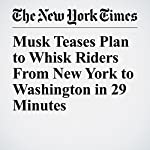 Musk Teases Plan to Whisk Riders From New York to Washington in 29 Minutes   Christine Hauser