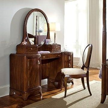 Lea Elite Rhapsodys Pedestal Vanity Bedroom Set in Cherry Color