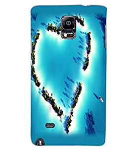 SAMSUNG GALAXY NOTE 4 HEART Back Cover by PRINTSWAG