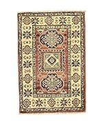 Eden Carpets Alfombra Uzebekistan Crema/Teja/Azul 90 x 60 cm