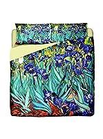 Tele d'autore by MANIFATTURE COTONIERE Juego De Funda Nórdica Van Gogh - Iris (Morado)