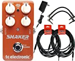 TC Electronic Shaker Vibrato Stomp Box w/4 Free Cables and a Power Supply from TC Electronic
