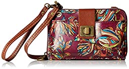 Sakroots Artist Circle Smartphone Cross Body Phone Wallet, Mulberry Treehouse, One Size
