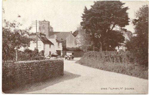 1920s Vintage Postcard Street Scene in Felpham