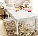 ホワイト 猫脚こたつ 長方形 105cm幅 こたつテーブル単品