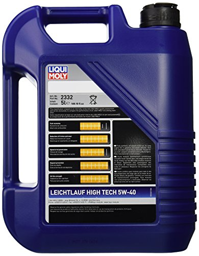 liqui moly 2332 leichtlauf high tech 5w 40 engine oil 5. Black Bedroom Furniture Sets. Home Design Ideas