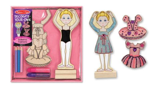 Melissa & Doug DYO Wooden Magnetic Ballerina Fashions - 1