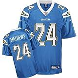Reebok San Diego Chargers Ryan Mathews Replica Alternate Jersey Extra Large
