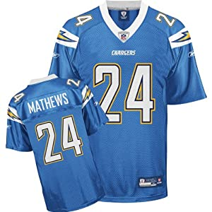 Reebok San Diego Chargers Ryan Mathews Replica Alternate Jersey Extra Large by Reebok