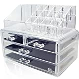Ikee Design Acrylic Jewelry & Cosmetic Storage Display Boxes Two Pieces Set. (Misc.)