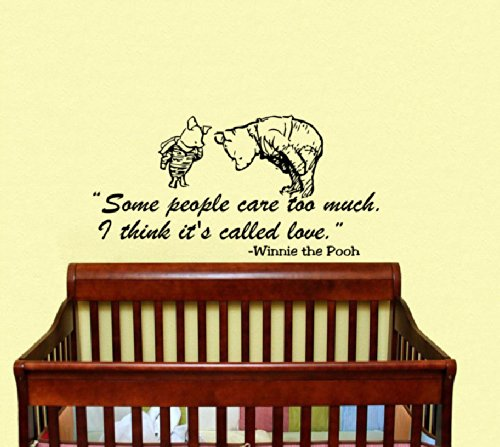 Housewares Vinyl Decal Winnie The Pooh Quote Some People Care Too Much. I Think It'S Called Love. Home Wall Art Decor Removable Stylish Sticker Mural Unique Design For Room Baby Kid Nursery front-159974