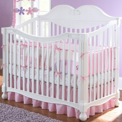 Baby Crib, Disney Princess 4-in-1 Convertible - Antique White