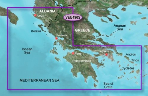 GARMIN BLUECHART G2 HXEU490S GREECE WEST COAST & ATHENS
