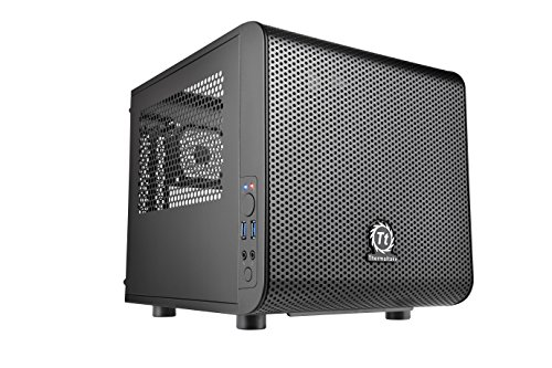 Thermaltake Core V1 Mini ITX  Cube Gaming Computer Case CA-1B8-00S1WN-00 (Thermaltake Modular Cables compare prices)