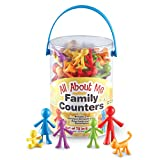 Learning Resources LER 3372 - Aufstellfiguren Familie, 72-teiliges Set von Learning Resources