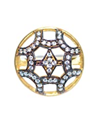 Aina Jewels 92.5 Silver Jewellery Gold Plated With Cubic Zircons Gold Plated 16.8mm Ladies Ring AGPR01