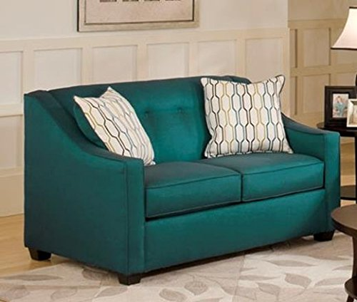 Chelsea Home Furniture Brittany Loveseat, Stoked Peacock