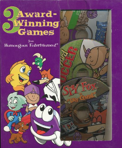 3 Humongous Award Winning Games - Backyard Baseball, Backyard Soccer, Spy Fox Dry Cereal