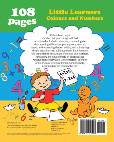 Little Learners - Colors and Numbers: Coloring and Activity Book with Puzzles, Brain Games, Problems, Mazes, Dot-to-Dot & More for 4-7 Years Old Kids (Volume 4) (Preschool Collection)