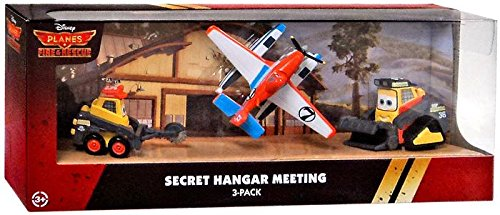 Disney PLANES: Fire & Rescue Exclusive 1:55 Deluxe Die Cast 3-Pack Secret Hangar Meeting [Blackout, Drip & Pontoon Dusty]