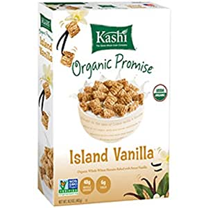 Kashi Organic Cereal, Island Vanilla, 16.3-Ounce Boxes (Pack of 4)