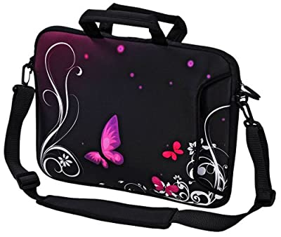 """New Design Laptop Notebook Sleeve Soft Case Bag With Handle and Shoulder Strap With Handle and Shoulder Strap for Apple MacBooks 11"""" 13"""" MacBook Air, 13"""" 15"""" 17"""" MacBook Pro, MacBook Pro Retina, PowerBook G3 G4, iBook, Aluminum Unibody, Core 2 Duo etc. Di"""