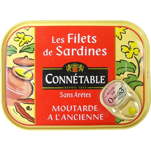 Connetable - Sardine Fillets With Mustard 100 G 3.5 Oz