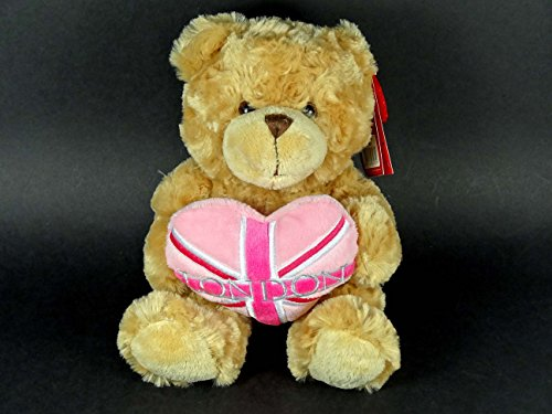 Teddy Bär-Teddie hält ein Pink Union Jack