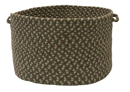 Colonial Mills Boston Common Utility Basket, 14 by 10-Inch, Moss Green - 1