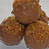 Ilze's Chocolat Amaretti Truffles - almond praline and Amaretto liquer in milk chocolate shells - 10 pieces