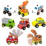 Viga Wooden 6 Piece Mini Vehicle Set...