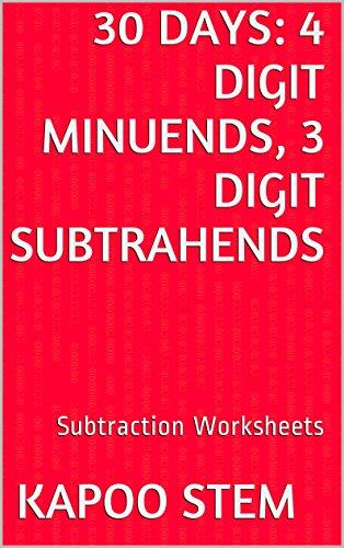 30 Subtraction Worksheets